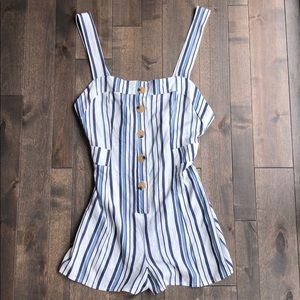 Lottie Moss Striped Romper